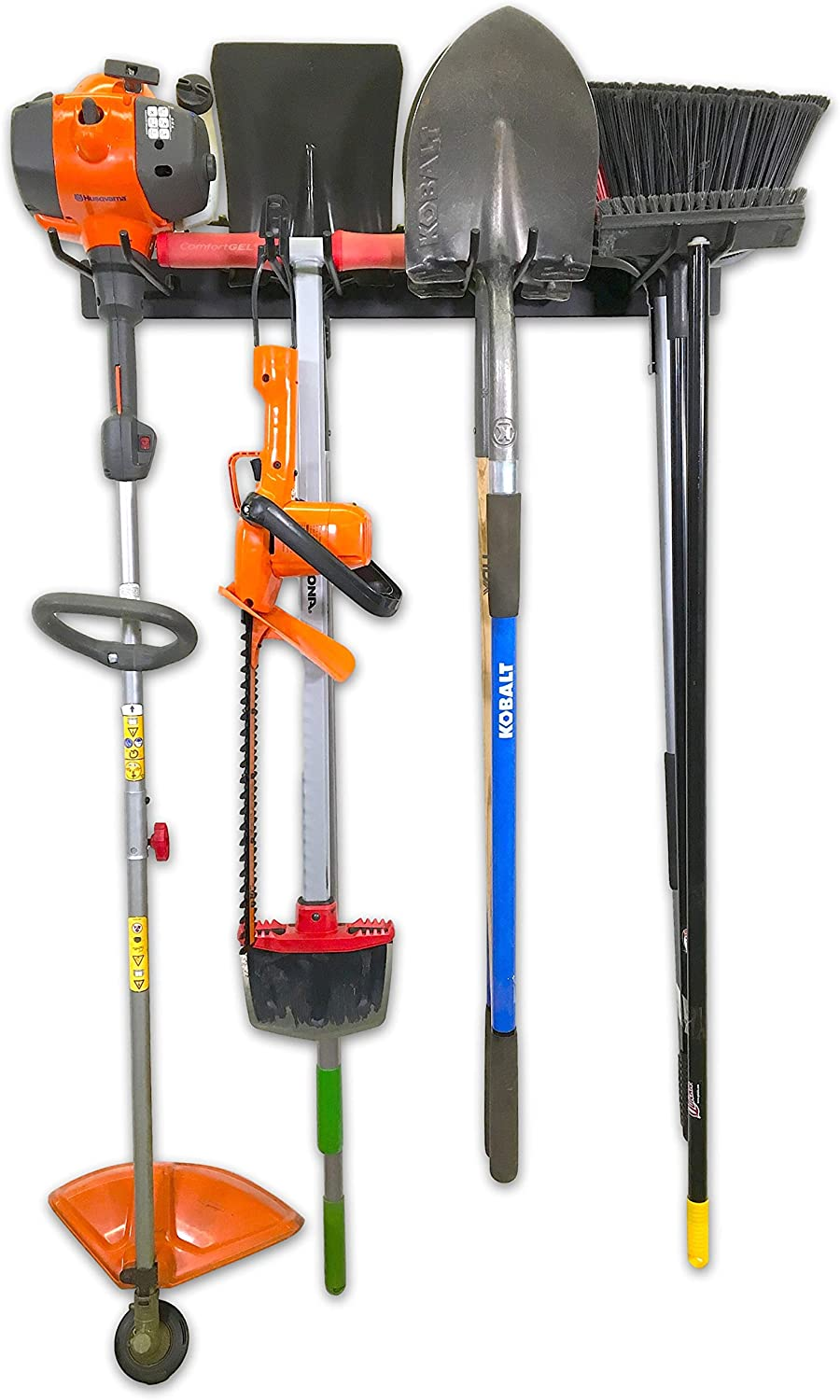 StoreYourBoard BLAT Tool Storage Rack, Garage Wall Mount Organizer, Holds Garden Tools, Shovels, Rakes, Brooms, Cords, and More
