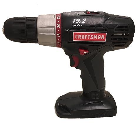 craftsman c3 19 2 volt 1 2 inch drill driver dd2010 bare tool no rh amazon com Craftsman 19.2 Volt Drill Review 19 2 Volt Craftsman Hammer Drill