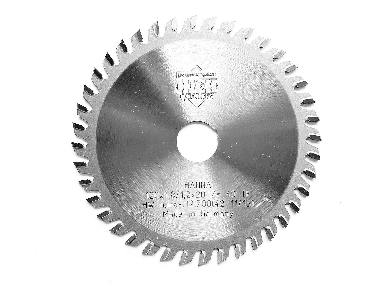 4250980601681 1/pieza /Hoja de sierra circular Hanna 120/x 1,8/x 20/z = 40/TF especialmente para Mafell jjw de Alemania HM/