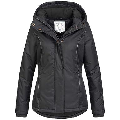 Azuonda Damen Winter Jacke Parka Winterjacke warm gefüttert wasserabweisend Kapuze Az100 XS-XXL 2-Farben
