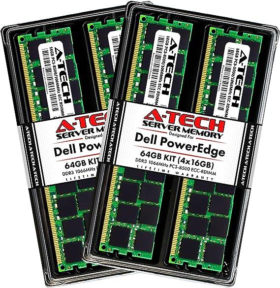 96GB DDR3 PC3L-8500R 4Rx4 ECC Reg Server Memory RAM Dell PowerEdge R610 6x16GB