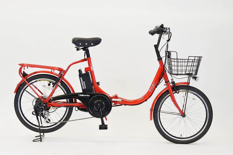 エイサン(EISAN) 折りたたみ電動自転車 swifti-20 20インチ 6段変速 8.4Ahリチウムイオンバッテリー搭載 B0753DCRP2 レッド レッド