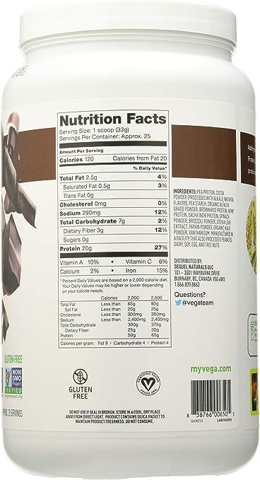 Vega Protein & Greens Chocolate - 760 gr: Amazon.es: Salud y ...