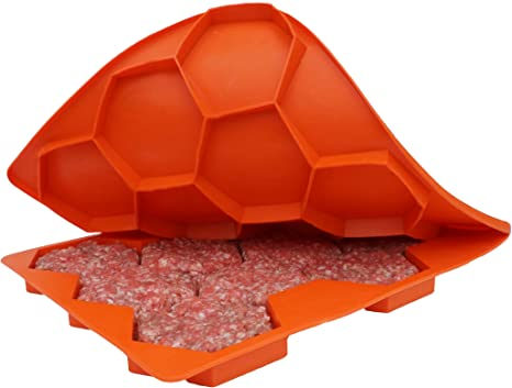 Silicone Burger Press and Freezer Storage Container // 7 in 1 Burger Press