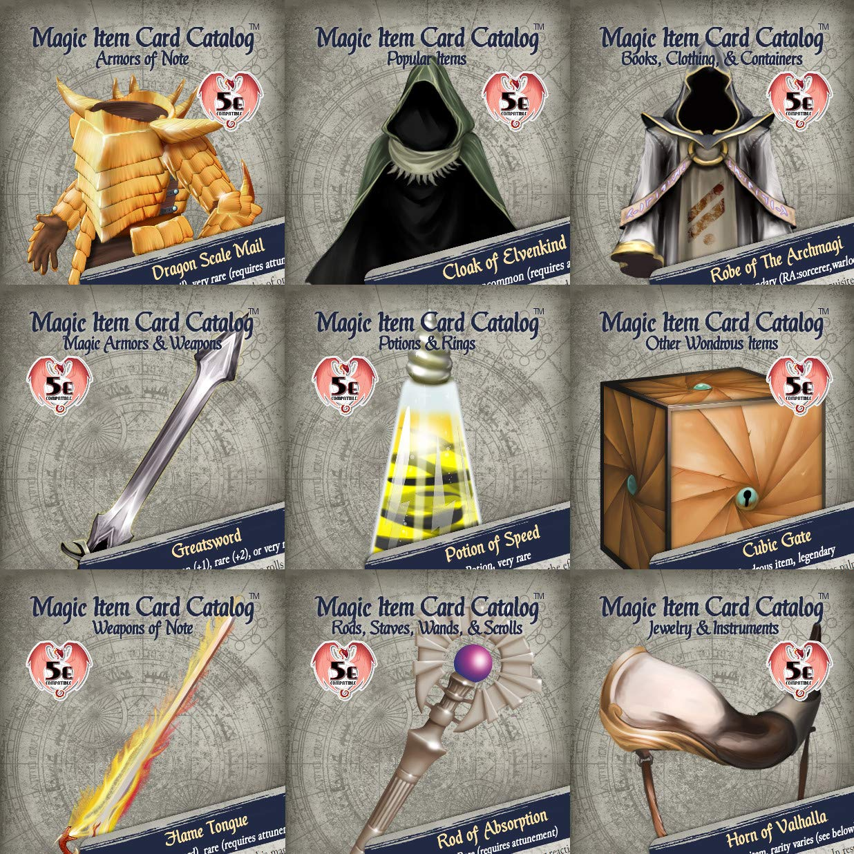 Inkwell Ideas Magic Item Card Catalog Deluxe Collection (5e)