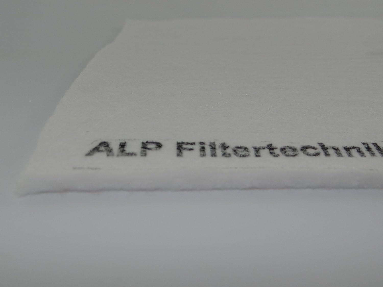 Pollenfilter Feinfilter F9 ca. 1x1m Dicke ca. 4-8mm ca. 320g/m² in dichter Ausführung Ersatzfilter Luftfilter Filter zum selber Zuschneiden ALP Filtertechnik