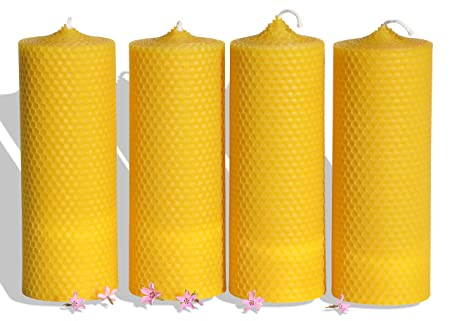 2 Candles 7 day candles 100 HOURS burning time Pure 100/% Beeswax Prayer Candle
