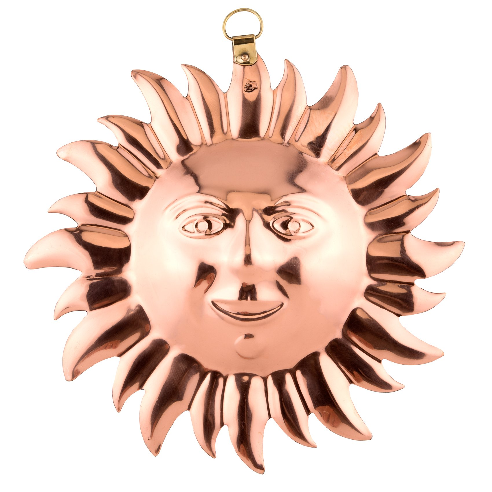 Old Dutch Solid Copper Sun Face Mold