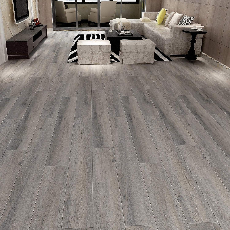 "CHL Stone Ridged Flooring 7/"" x 48/"" x 5.5mm SPC Luxury Vinyl Plank in Grey Maple 1 Sample Piece"