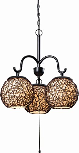 Kenroy Home Castillo Chandeliers, Medium, Oil Rubbed Bronze with Highlight Finish