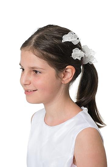 profiter du prix de liquidation magasin meilleurs vendeurs plus grand choix de 2019 MGT-Shop fille Pince à cheveux Communion Baptême Mariage ...