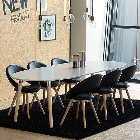 AC Design Furniture h000013704 Kim Esstisch Holz weiß/Eiche 170 x ...
