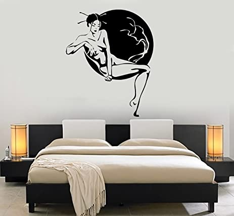 Wall stickers vinyl decal hot sexy geisha girl naked oriental ig1731 22 5 in by