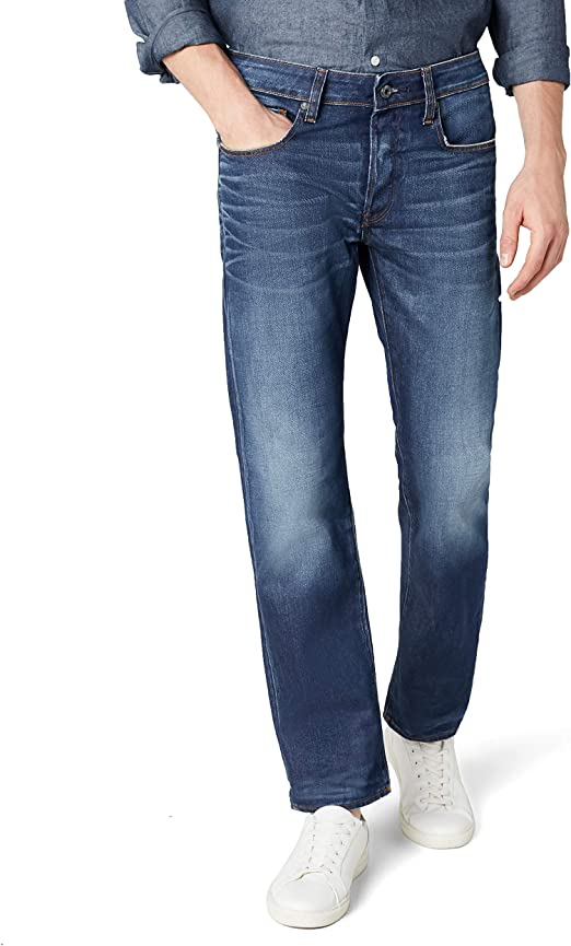 TALLA 29W / 30L. G-STAR RAW 3301 Straight Fit Jeans para Hombre