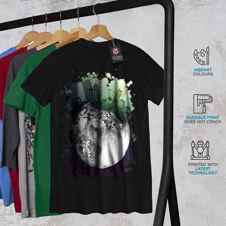 30d4c4907 Amazon.com  wellcoda Urban Cosmos Moon Space Mens T-Shirt