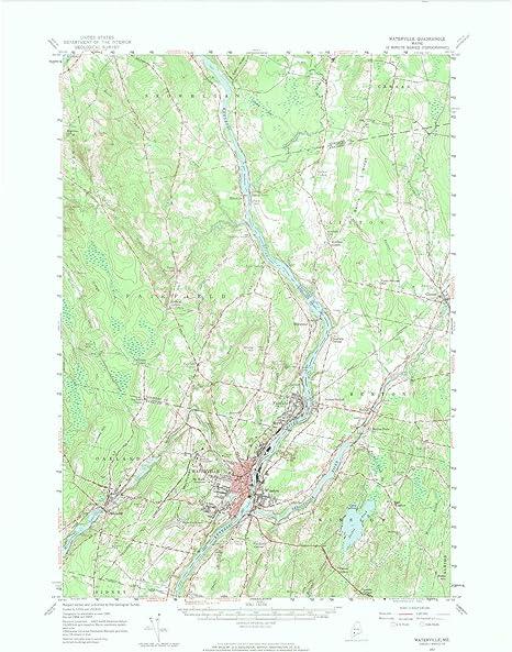 Amazon Com Yellowmaps Waterville Me Topo Map 1 62500 Scale 15 X