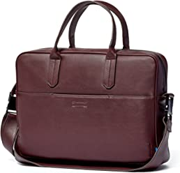 57f3dc3aec1c Uri Minkoff Arthur Briefcase With Soft Napa Leather
