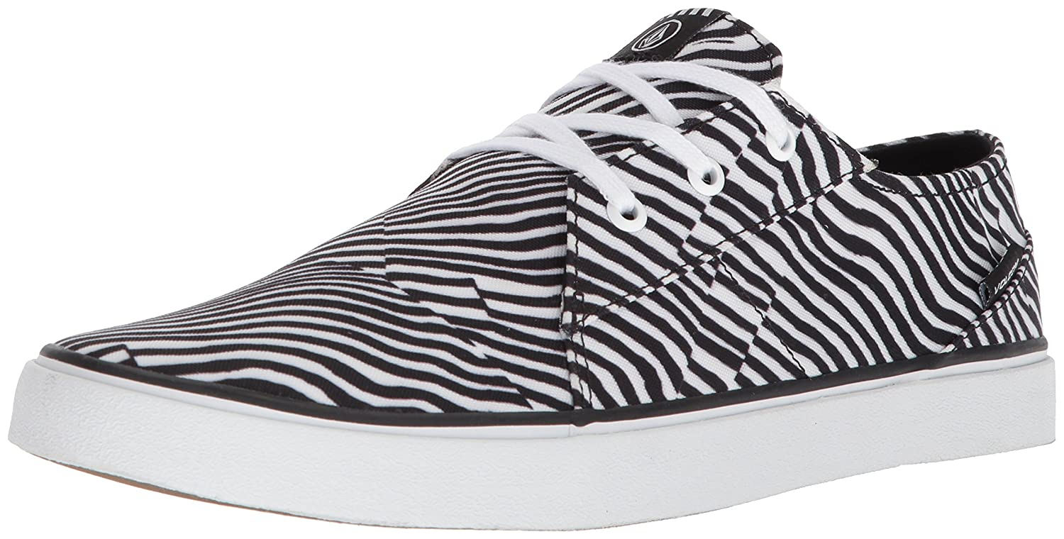 Volcom Men's LO FI Fashion Skate Shoe 8 D(M) US|Paint White
