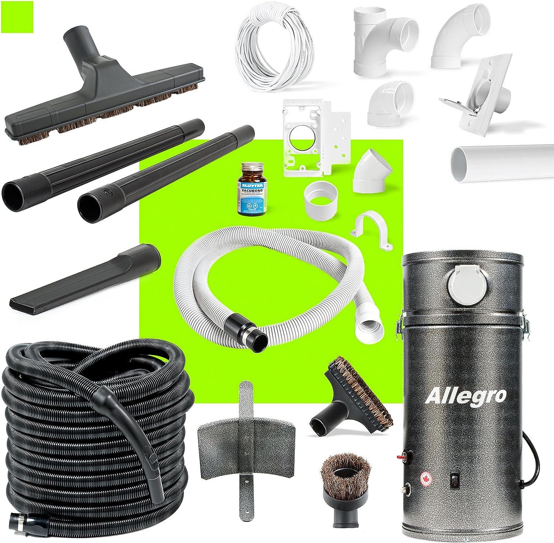 RV Trailer Boat Yacht Allegro Central Vacuum Unit & Utility Garage Car Kit & 1 Inlet Installation Kit