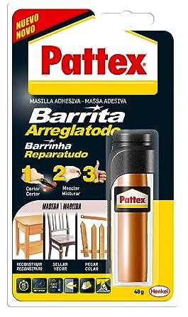 Pattex Barrita arreglatodo, masilla adhesiva para sellar, pegar, madera, 48gr