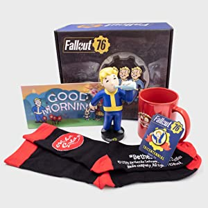 Culturefly Fallout 76 Collectors Box - 5 Exclusive Items Including Party Boy Vinyl Figure