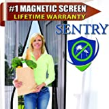 Inspired Home Living MAGNETIC SCREEN DOOR - US Military Approved - 60g Mesh and 1,400 gs Magnets - Reinforced With Full Frame Hook and Loop Fasteners to Ensure All Bugs Are Kept Out - Tough and Durable