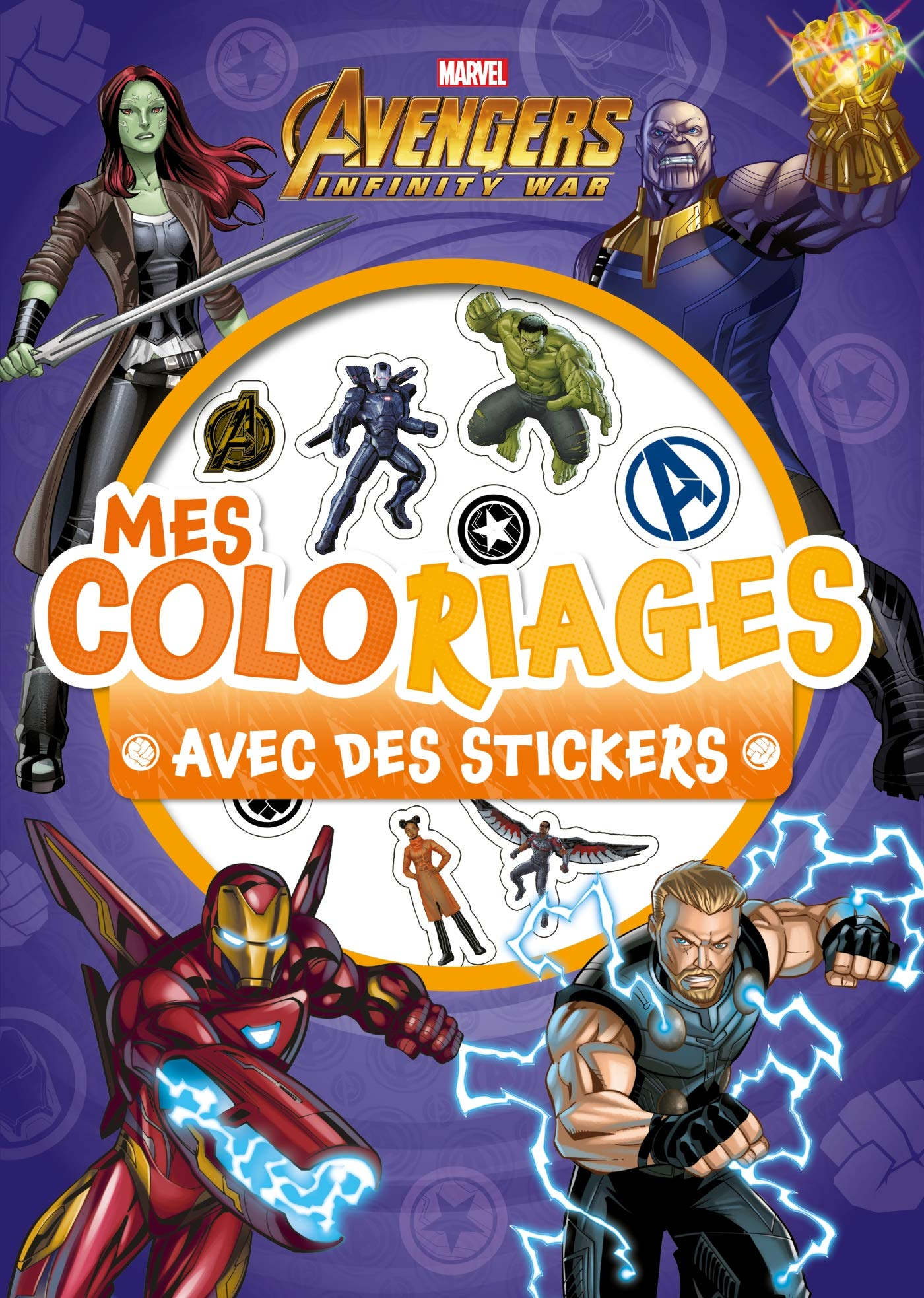 Amazonin Buy Marvel Infinity War Mes Coloriages Avec Stickers