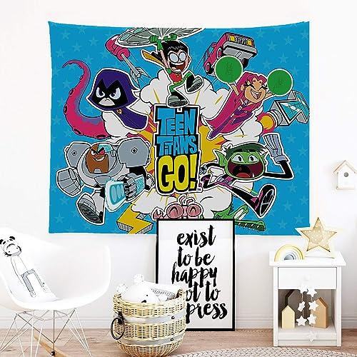 CuGuGo Teen Titans Go Tapestry Wall Hanging Art Decor
