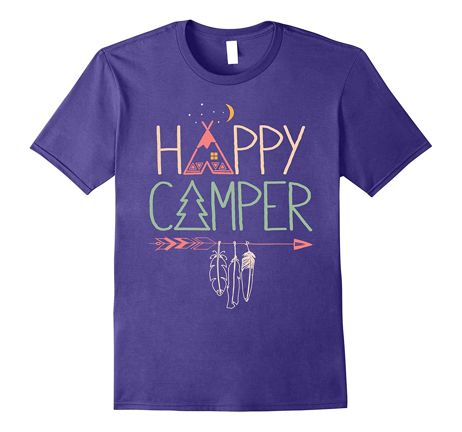 Happy Camping Camper T-Shirt - Funny Camp Shirt-T-Shirt