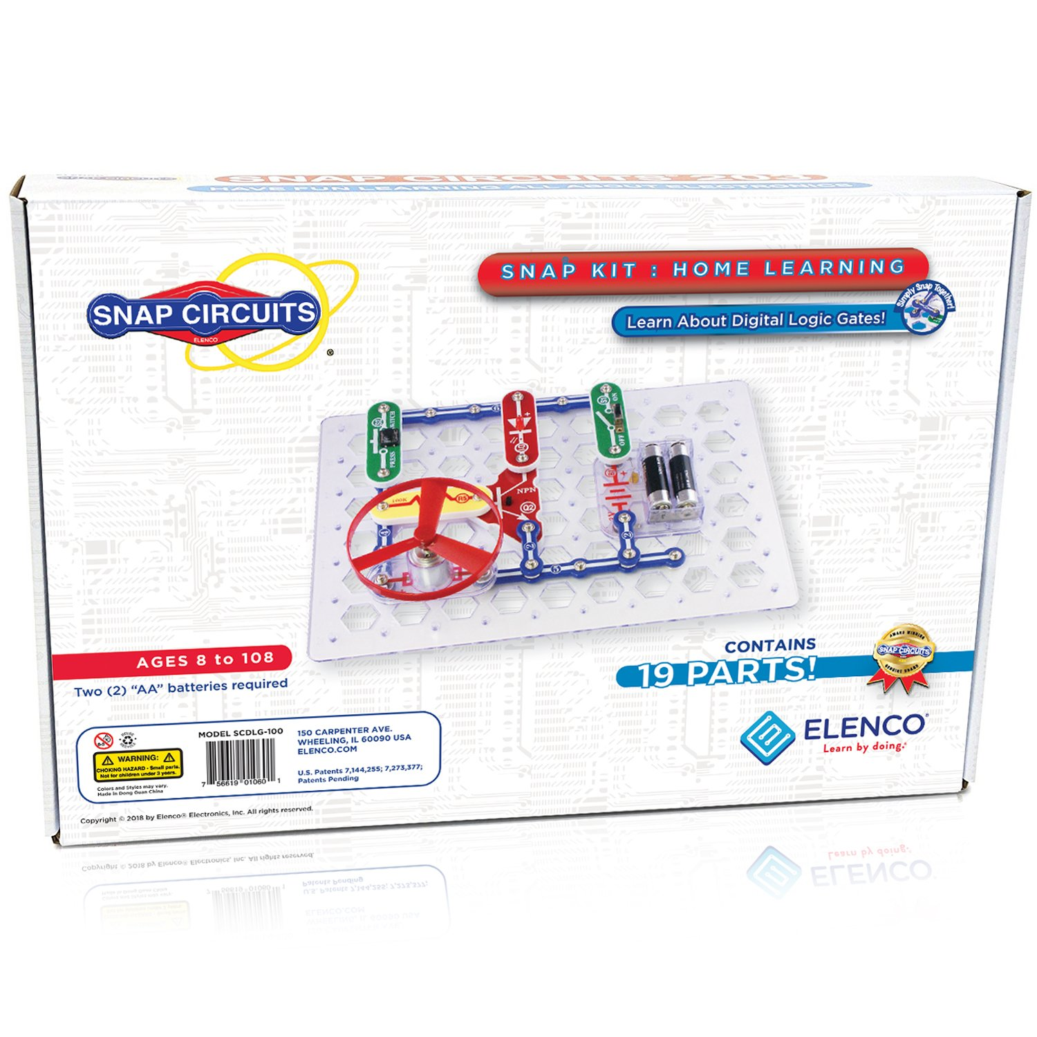 Snap Circuits Home School Education Electronics Exploration Kit | Over 30 STEM Projects | 4-Color Project Manual | 19 Snap Modules | Perfect for STEM Curriculum