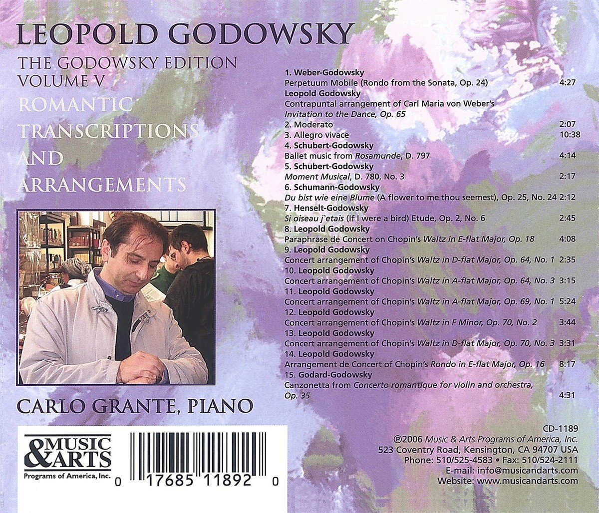Godowsky Edition Vol. V: Romantic Transcriptions & Arrangements by Leopold Godowsky by Music & Arts Programs