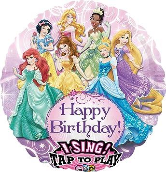 Disney Amscan 71 Cm 71 1 Cm Princess Sing A Tune Joue Joyeux Anniversaire Amazon Fr Jeux Et Jouets