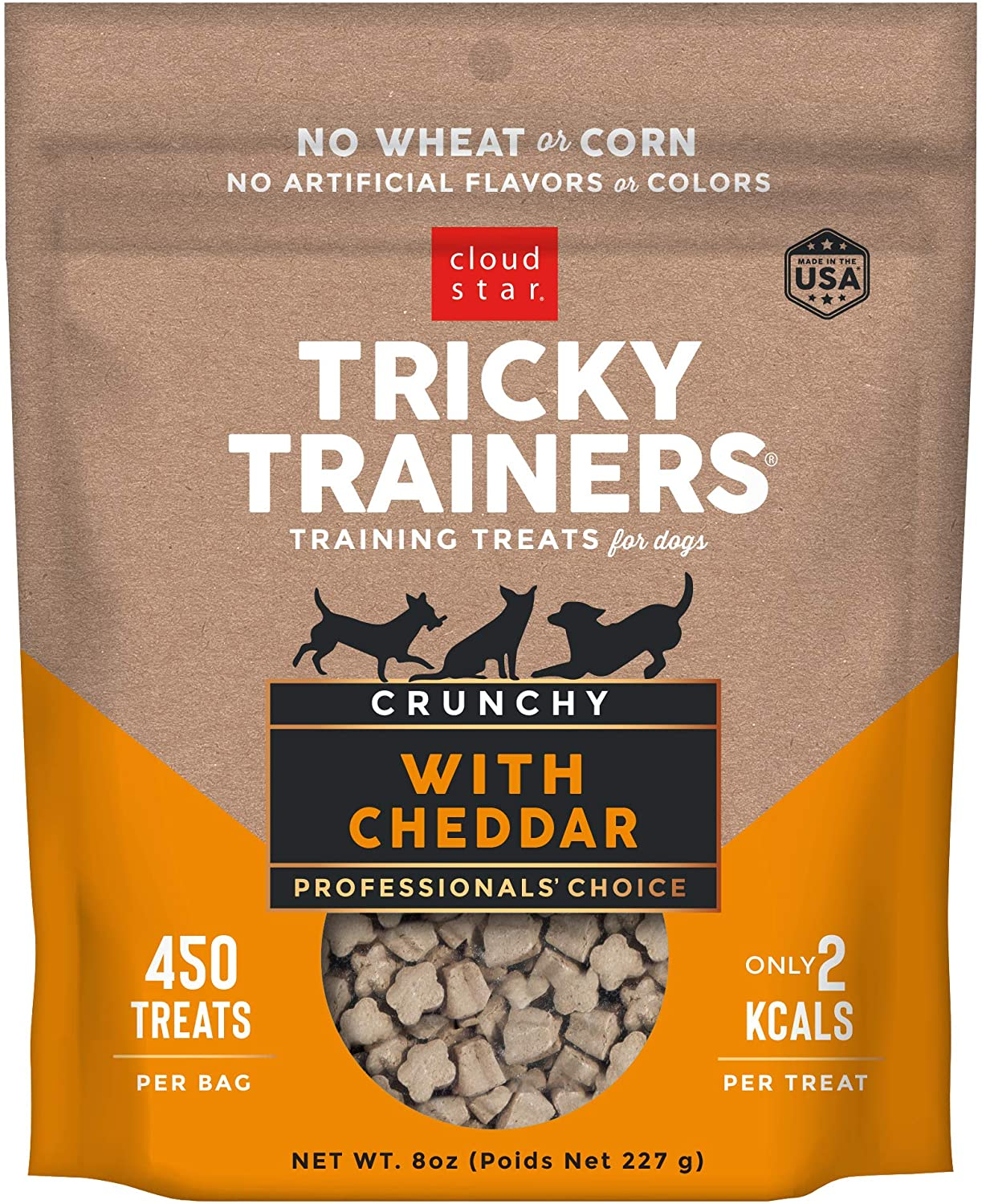 Cloud Star Tricky Trainers Crunchy, Low Calorie Training Dog Treat, Made in the USA, Wheat & Corn Free