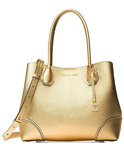 bf6792bf49a5e4 MICHAEL Michael Kors Mercer Medium Leather Tote in Gold: Handbags:  Amazon.com