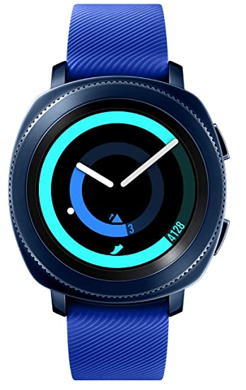 Samsung Gear Sport Smartwatch SM-R600 (Bluetooth/Compatible with iPhone), Blue - International Version