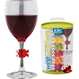 Joie Wine Watchers Cocktail and Wine Glass Charms, Set of 6, Assorted Colors