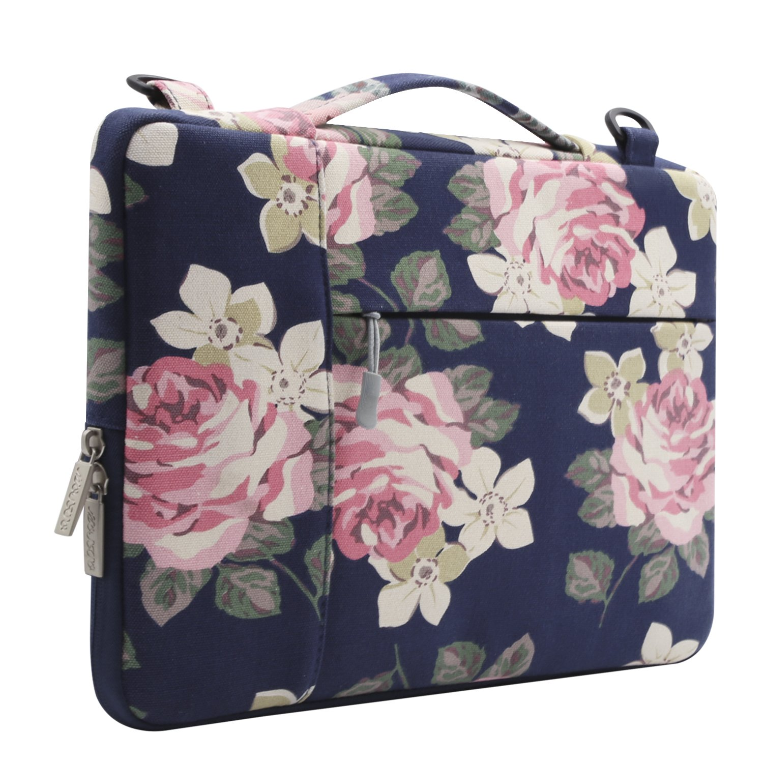 Surface Pro 6//5//4//3 Mosiso Rose Multifunctional Laptop Shoulder Bag Compatible 11.6-13 inch 2018 MacBook Air 13 A1932 Retina Display Pink 2018//2017//2016 MacBook Pro A1989//A1706//A1708