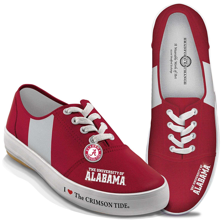 Bradford Exchange I Love The Alabama Crimson Tide Women's Shoe: 8 by The