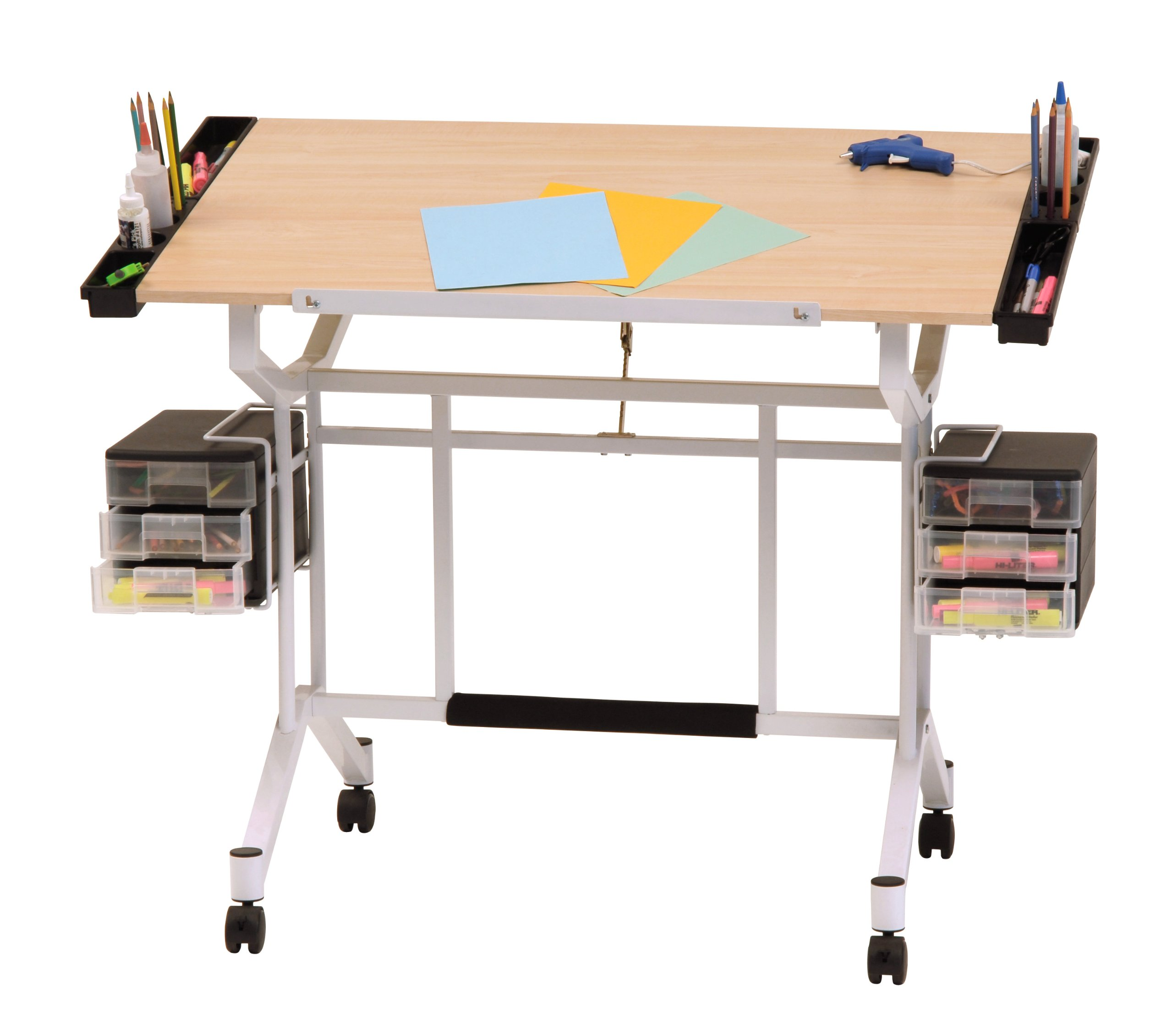 Studio Designs Pro Craft Station in White with Maple 13245 by Studio Designs