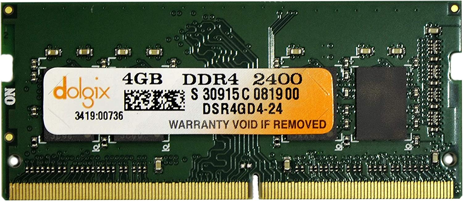 DOLGIX 4GB DDR4 PC4-19200 2400MHz for Laptop PC4-2400 Memory RAM