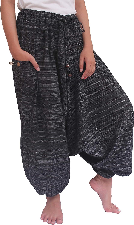 ChiangmaiThaiShop 100/% Cotton Baggy Boho Aladin Yoga Harem Pants