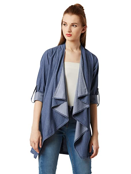 35ba99d75da Miss Chase Women's Blue Denim Shrug: Amazon.in: Clothing & Accessories