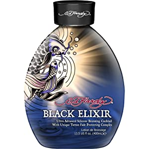 Ed Hardy Elixir Silicone Bronzer Tattoo Fade Protection Tanning Lotion