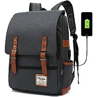 """FEWOFJ Zaini Casual, USB Zaino per Computer Portatile da 15.6"""" Zaino Porta pc per università o Scuola Backpack Uomo Business - Nero"""