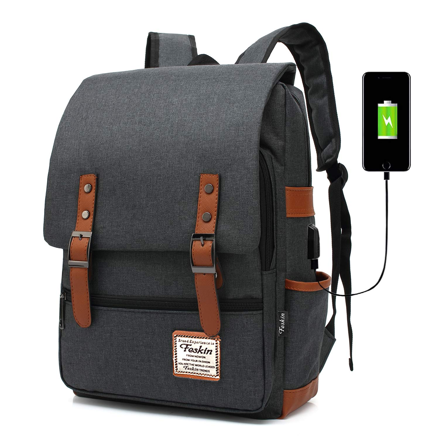 Amazon.com  Professional Laptop Backpack with USB Charging Port ... 43d5581f96ed4