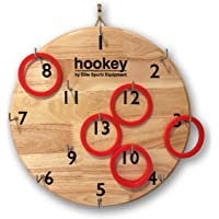 Elite Hookey Ring Toss Game - Safer Than Darts, Just Hang it on a Wall and Start Playing. Fun Outdoor Games for Family. It's Beautifully Finished and Easy to Set-Up for a Man Cave, Home or Office.