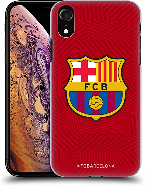 Amazon Com Head Case Designs Officially Licensed Fc Barcelona Red Crest Hard Back Case Compatible With Apple Iphone Xr