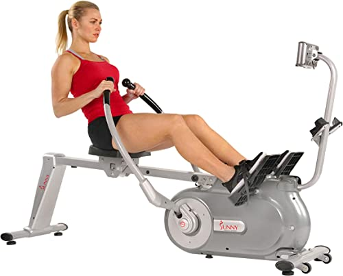 Sunny Health Fitness Full Motion Magnetic Rowing Machine Rower