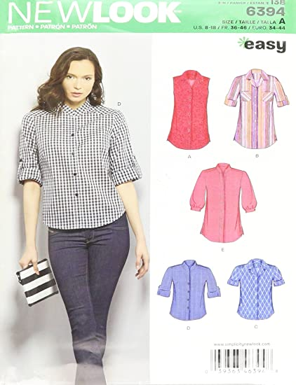 Amazon New Look Sewing Pattern Un6394a Autumn Collection Misses