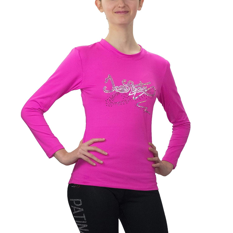 Design Exclusif Paradice World Strass de qualit/é AAA+ T-Shirt pour Le Patinage Artistique